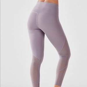 Fabletics high waisted mesh pure luxe 7/8 leggings